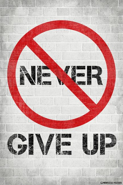 """Ships Free! In Stock. Ships in 1-2 days. People are always saying to never give up. Isn't it possible that giving up is a better idea? We sure think so! - Poster Size: 12"""" x 18"""" - Printed on heavyweig"""