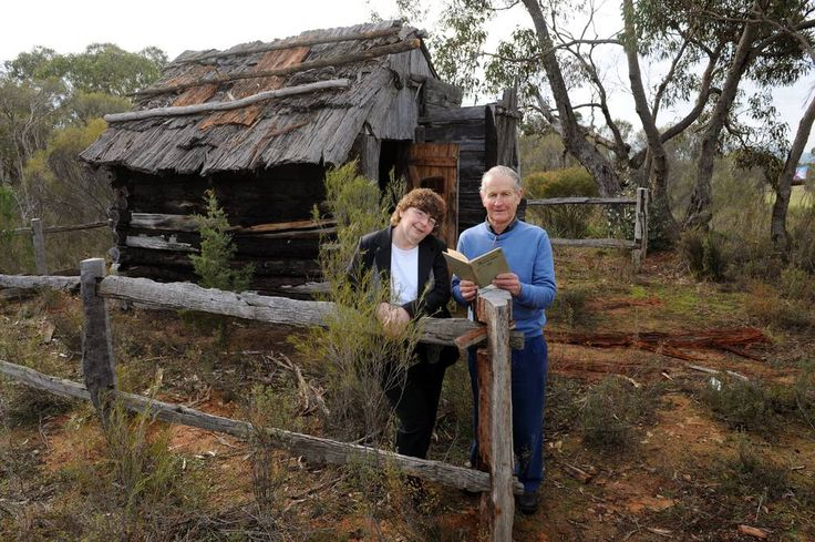 STEP BACK IN TIME: Ros Ryan and Robert Isaacson stand in front of the Jane Duff replica cottage at the Duffholme Museum, Mitre. The museum with will celebrate the 150th anniversary of the 'Lost in the Bush' story. Pict: Paul Carracher.