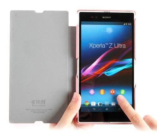 Pink KLD Leather Case for Sony Xperia Z Ultra is especially designed to fit this model with high quality made from PU leather for protect your cell phone in this very stylish flip cover.