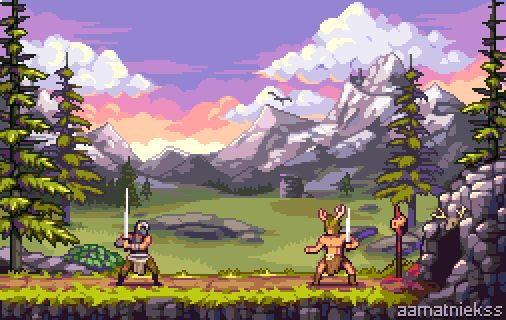 I know Im 5 years too late, but what if Skyrim was a 2d platformer?  #pixelart #skyrim #fanart