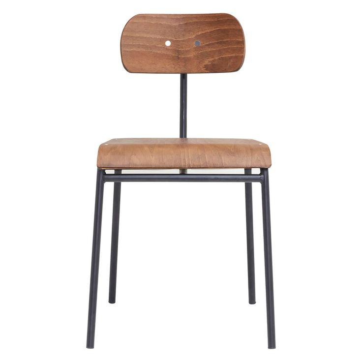 School stol från House Doctor. En modern stol i enkel design. Stolen har en sittdyna och ryggstöd i ...
