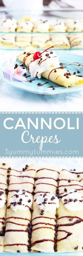 This Cannoli Crepe is super easy to make and makes a gorgeous presentation with…