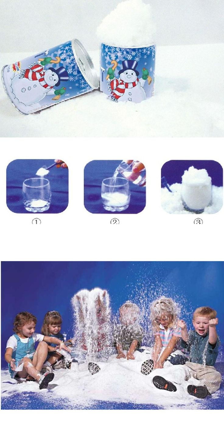 [Visit to Buy] New style Instant Snow Man-Made Magic Artificial Snow Powder Christmas Decoration DIY Christmas gift #Advertisement