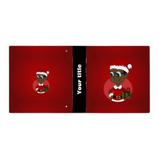 Christmas boy cartoon vinyl binder