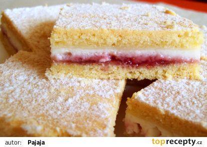 * Linecký tvarohový koláč - pekla, dobrý. Do těsta jsem dala 2 PL cukru a 2PL medu, místo marmelády nastrouhaná jablka.