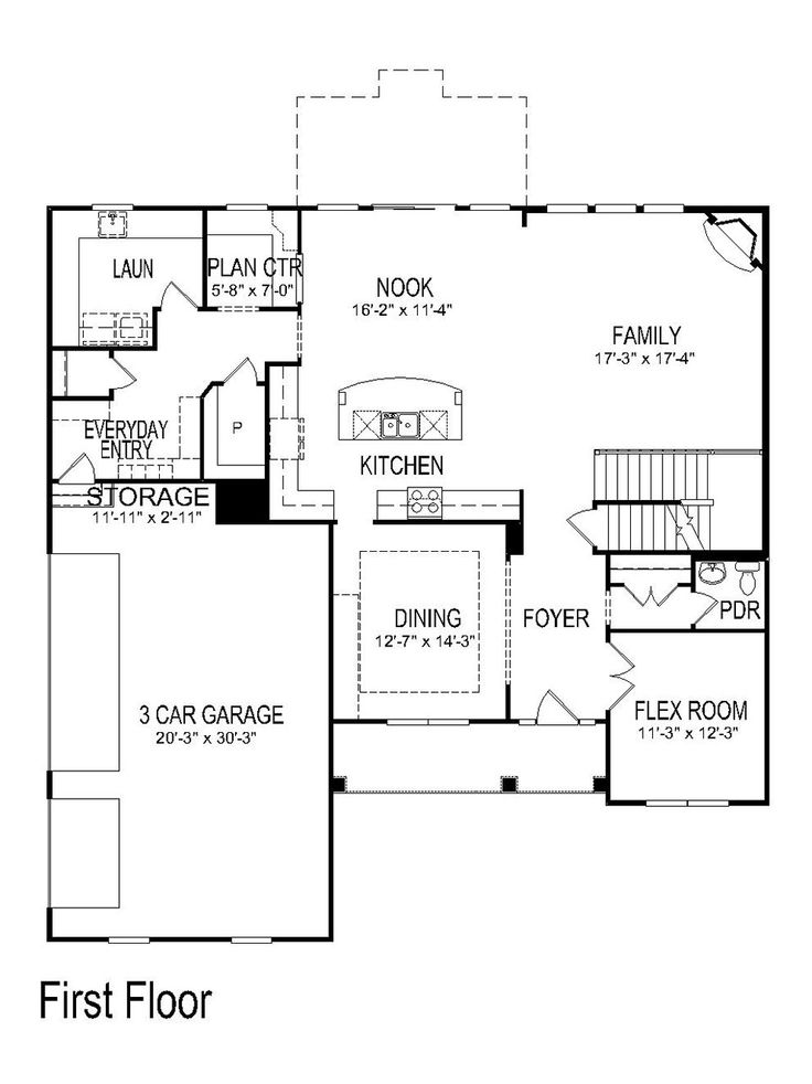17 best images about floor plans with large garages 3 or for Pulte home designs