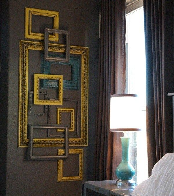 LOVE!: Wall Art, Empty Frames, Old Frames, Master Bedrooms, Frames Collage, Frames Wall, Pictures Frames, Frames Art, Accent Wall
