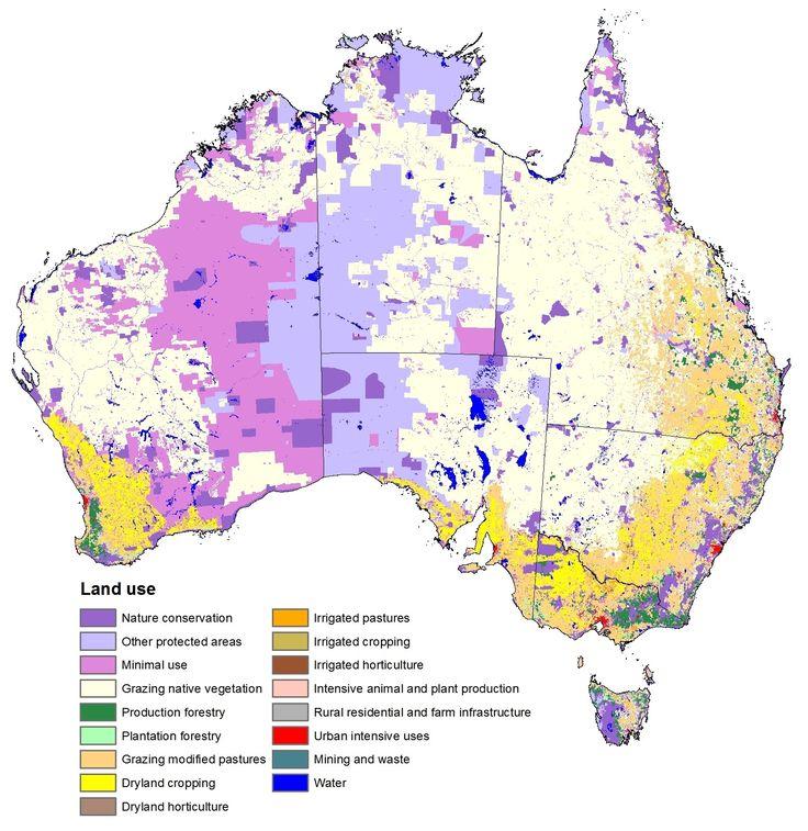 Australian Land Use - Few people. Lots of space.