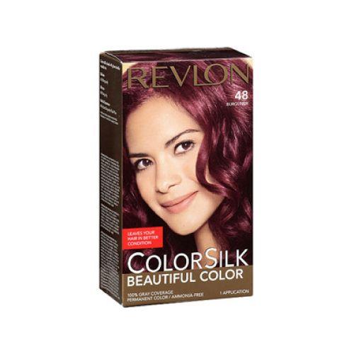 Revlon Revlon c silk tinte 48 burgun kit Tinte de larga duración, que deja tu cabello en mejores condiciones,le da la apariencia natural, incluso el color de la raíz a la punta, el cabello se ve más sedoso, brillante y saludable que antes de tinturar.