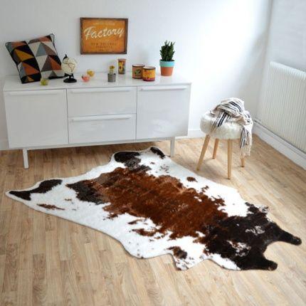 1000 id es sur le th me tapis en peau de vache sur pinterest tapis de sol tapis et tapis modernes Tapis peau de bete synthetique