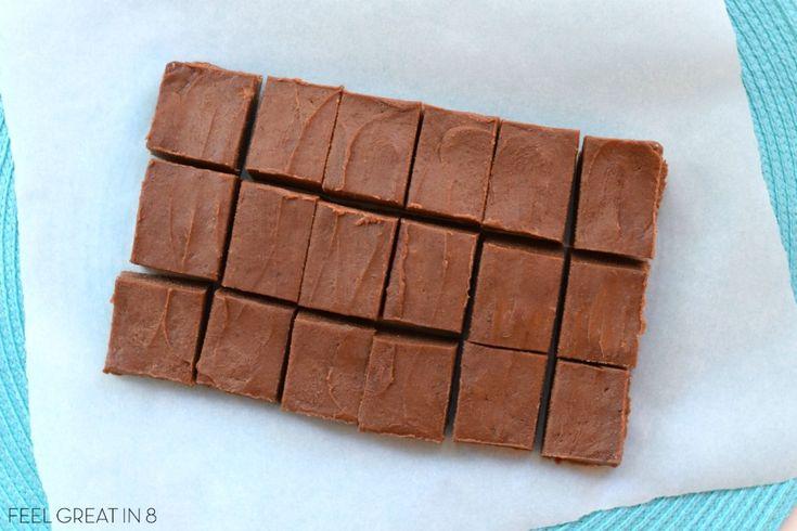 Healthy Peanut Butter Chocolate Fudge