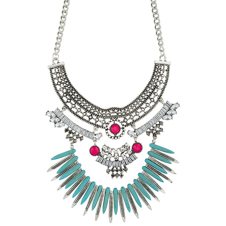 Achilleas Accessories - Products : NEW IN   SS 2016 / Bijoux / Necklaces / Colorful ethnic detailed necklace
