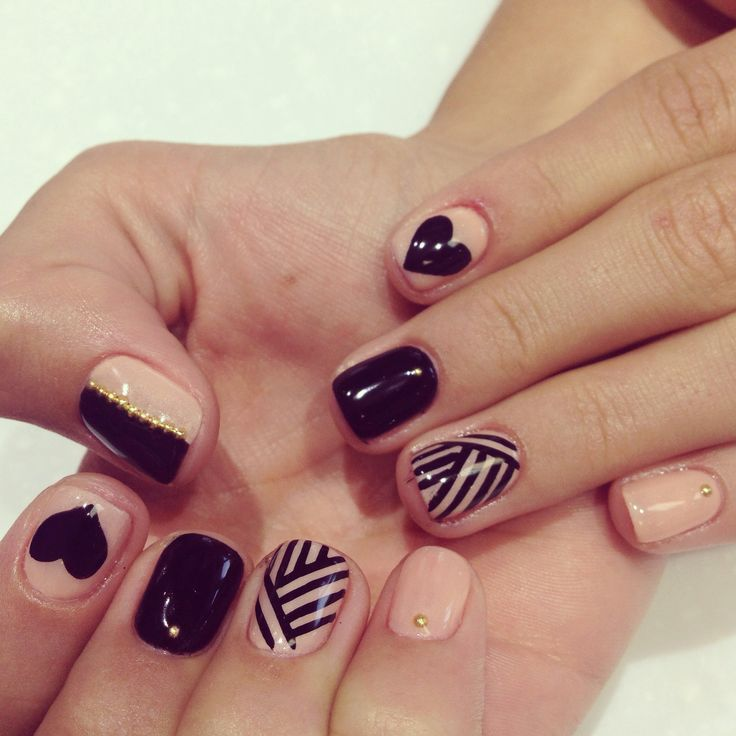Nails , nail design with gel color and stud. Chic Nail ArtChic . - Chic - Chic Nail Designs Graham Reid