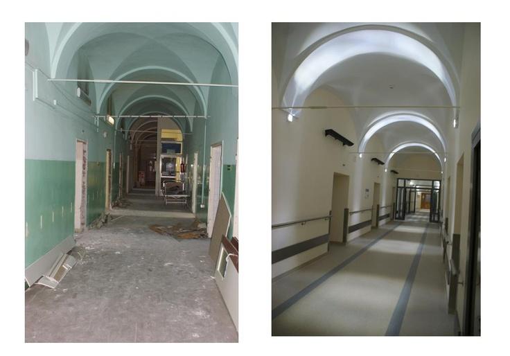 korytarz I piętro - zakończenie remontu listopad 2012 rok
