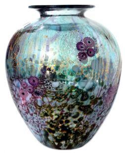 Wilderness Amphora glass vase by Jonathan Harris