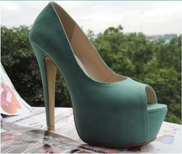 Fish Mouth Pure Color Super High-heeled Pumps