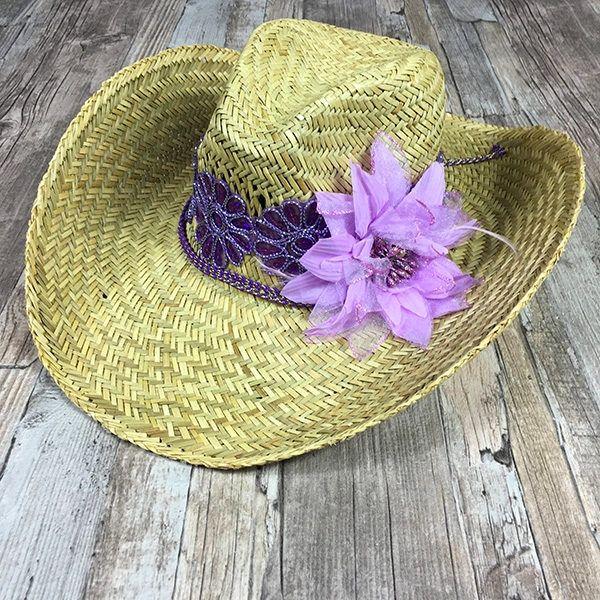 Gitano Ibiza paja playa Hat  Sombrero de vaquero  Bohemia