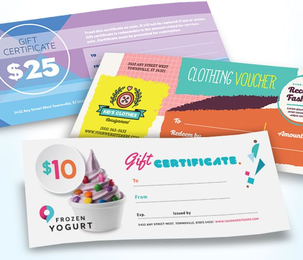 11 Best Gift Certificates Images On Pinterest Gift Certificates