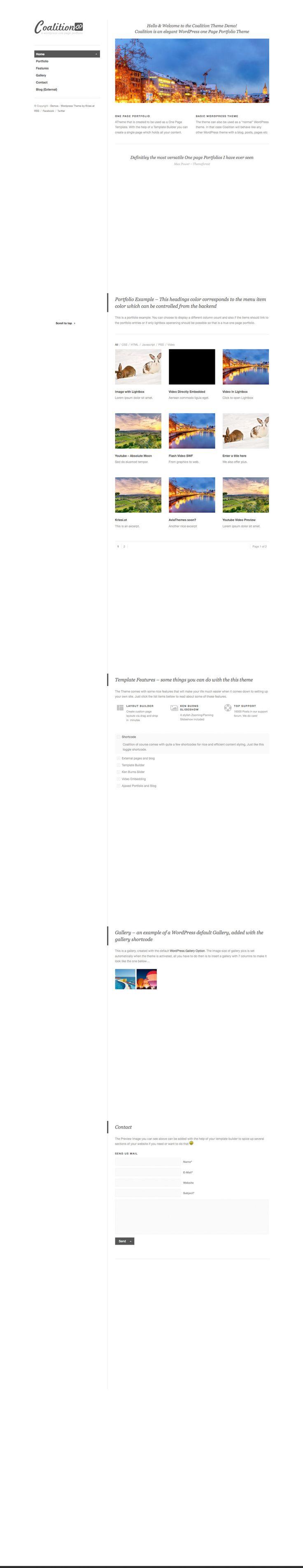 Coalition - a wordpress theme