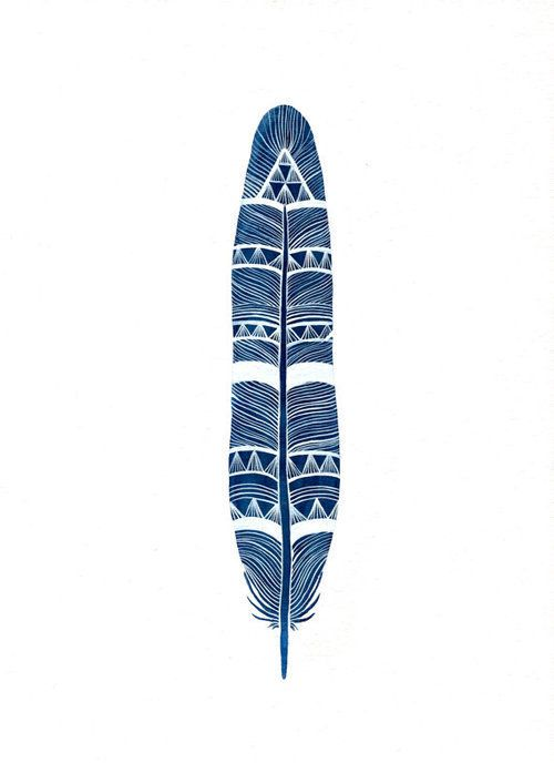 Stylized Indian Feather