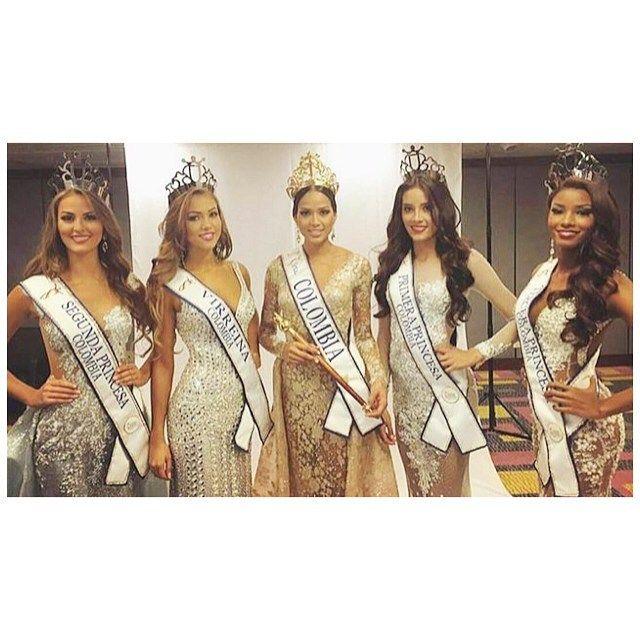 Así quedo el top 5 del #ReinadoColombia 2015. Realizado el día de ayer en las posiciones se ubicaron:  Srta Chocó: Ganadora (Al Miss Universo)  Srta Cesar: Virreina (Al Miss International) Srta Antioquia: Primera Princesa Srta Atlántico: Segunda Princesa  Srta Buena Ventura: Tercera Princesa.   #MissColombia #SrtaColombia #MissUniverso #MissInternational #SrtaChocó #SrtaCesar #SrtaAntioquia #SrtaAtlantico #SrtaBuenaVentura by latinqueensv