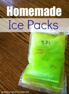 Homemade Ice Pack – How to make a Gel Ice Pack for less