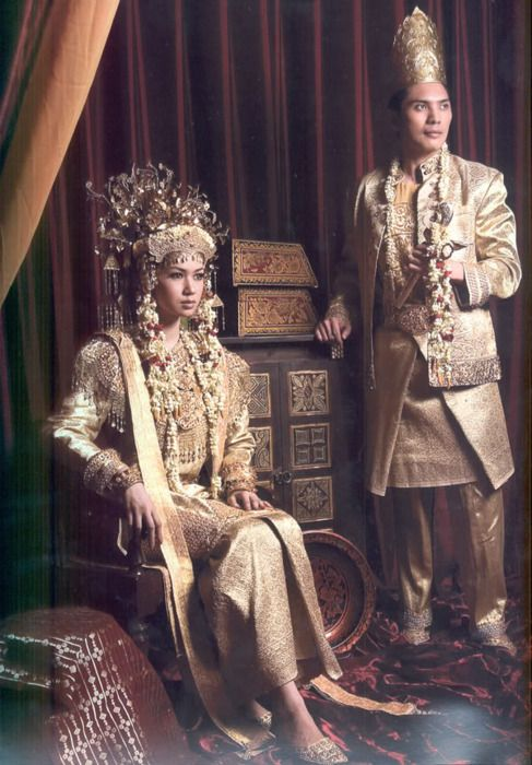 South Sumatra traditional wedding dress.  V