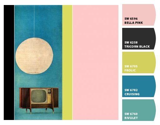 Atomic Ranch - color palettes