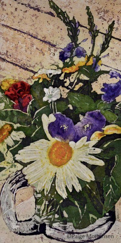 """Fond Farewell ©Paige Mortensen Watercolour 12x24""""  $375"""