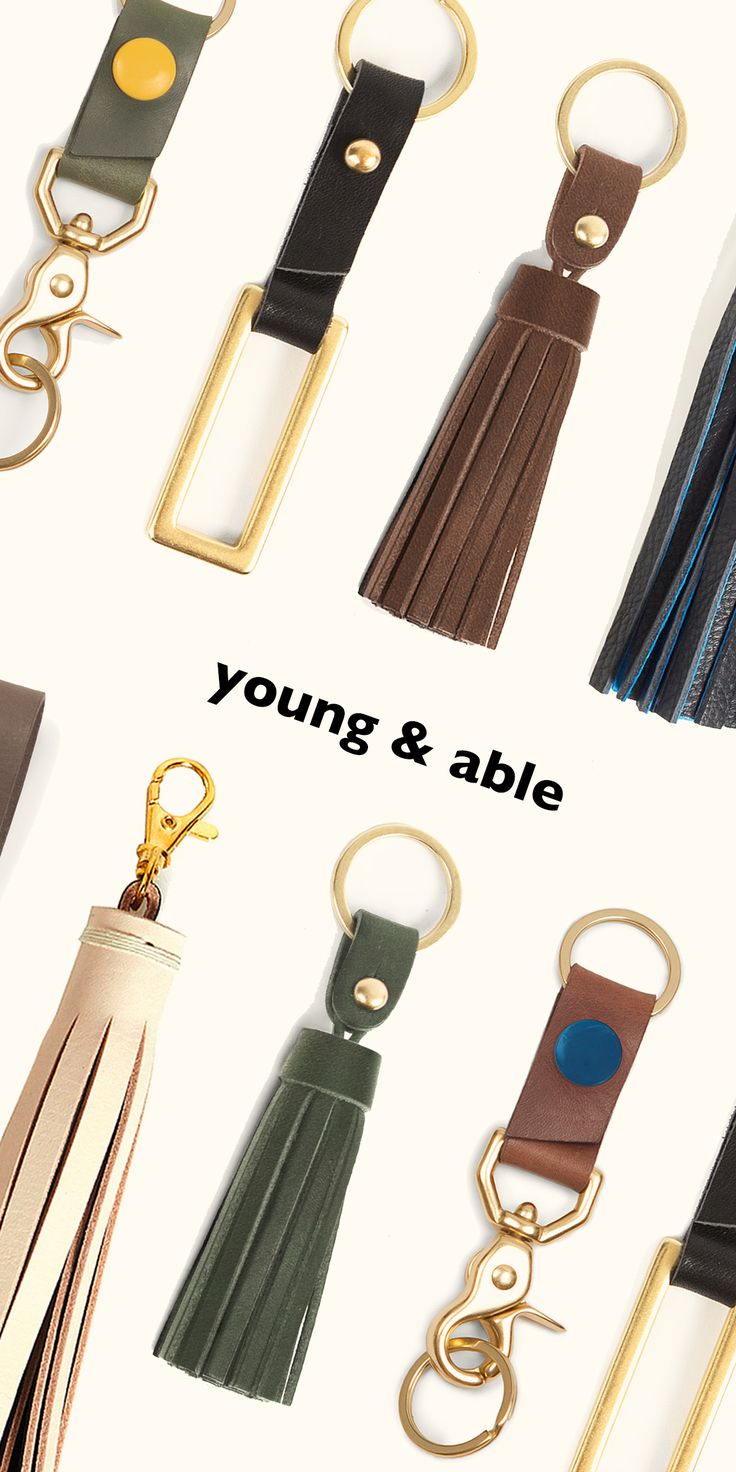 Don't ever lose your keys again! Shop leather keychains handcrafted by local makers on Young & Able