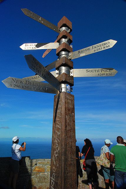 Cape Point, South Africa. Love this signpost and the view that comes with it....where two oceans meet. My spot.