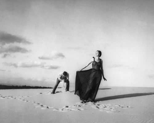 Max Dupain photographing model Noreen Hallard, Cronulla Sandhills,Australia, 1937 (Olive Cotton)