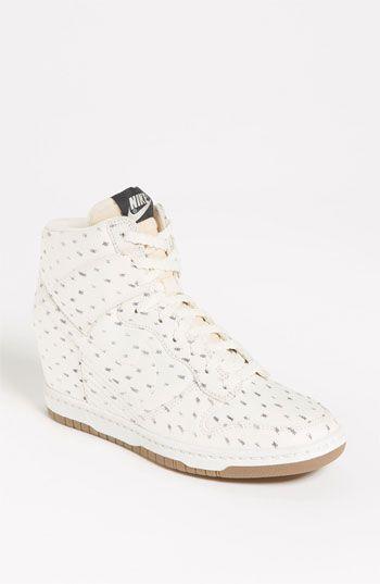 Nike 'Dunk Sky Hi' Wedge Sneaker (Women) love this cute print
