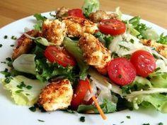 Hähnchenbrust mit Tropic Panade und Salat - Low Carb Rezepte mit wenig Kohlenhydraten sprich kohlenhydratreduziert.