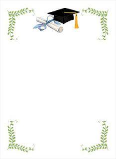 Bordas coloridas para fazer diploma de formatura da Educação Infantil - Molduras coloridas de formatura ~ ESPAÇO EDUCAR