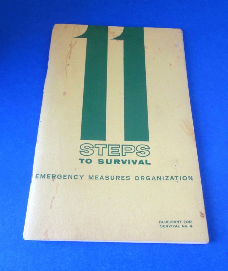 John Diefenbaker 11 Steps To Survival Radioactivity, Bunker, Nuclear Survival