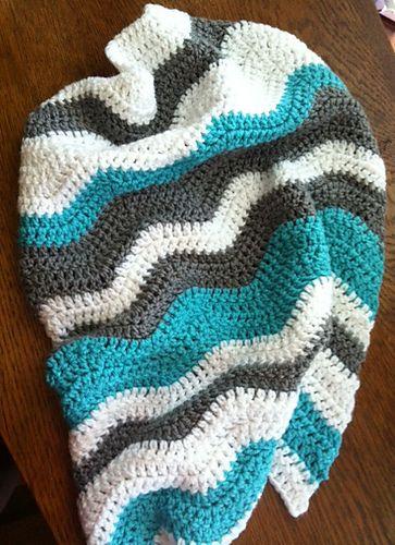 Ravelry: mission494's Cuddle Blanket (Blue/Gray/White)