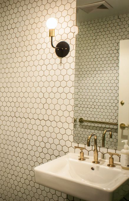 Can't stop staring at these gorgeous restaurant bathrooms.