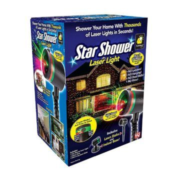 Amazon: Star Shower As Seen on TV Static Laser Lights Star Projector ONLY $14.98 {reg. $40}
