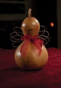 Retired design - Valerie the Valentine Gourd Angel.: Gourds Angel, Valentines Gourds, Valentines Inspiration Gourds
