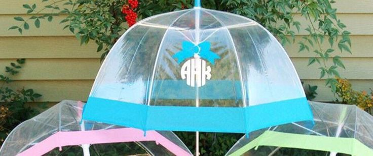 Umbrella,personalized umbrella,monogrammed umbrella,clear dome umbrella with colored stripe,chevron umbrella,vinyl monogram umbrella by IAmCreationsbyIvy on Etsy https://www.etsy.com/listing/261490063/umbrellapersonalized-umbrellamonogrammed