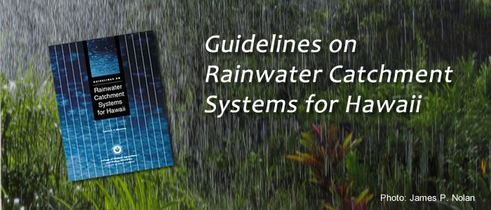 """Guidelines on Rainwater Catchment Systems for Hawai`i"" by College of Tropical Agriculture and Human Resources, University of Hawai`i at Manoa. This publication addresses water quality issues from the raindrop to the faucet. It includes chapters on water collection, water storage, water treatment, water testing, and firefighting concerns, and it gives an overview of the typical kinds of catchment equipment used in Hawaii."