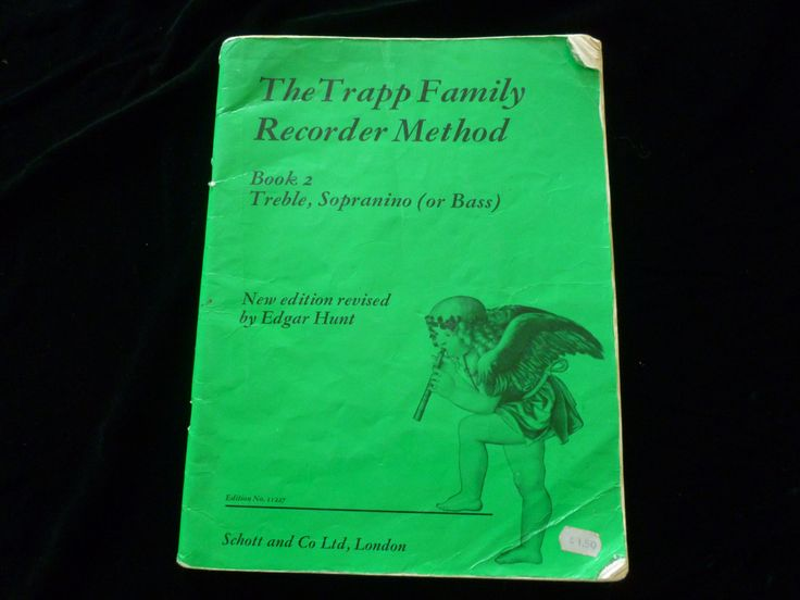 Vintage Sheet Music Book, The Trapp Family Recorder Method Book 2 1976, Treble, Sopranino or Bass, The Trapp Family Singers, Music Ephemera by MuskRoseVintage on Etsy