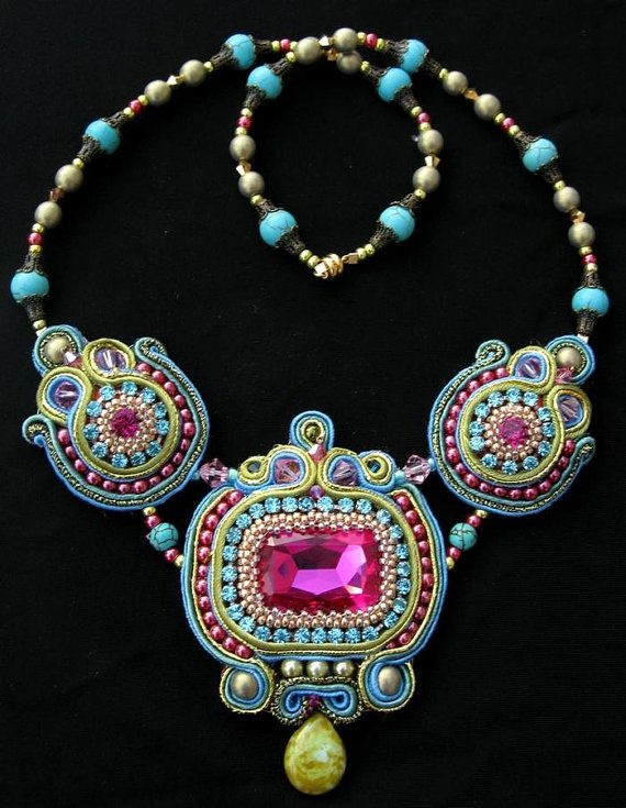 ❥ Soutache Bohemian Necklace