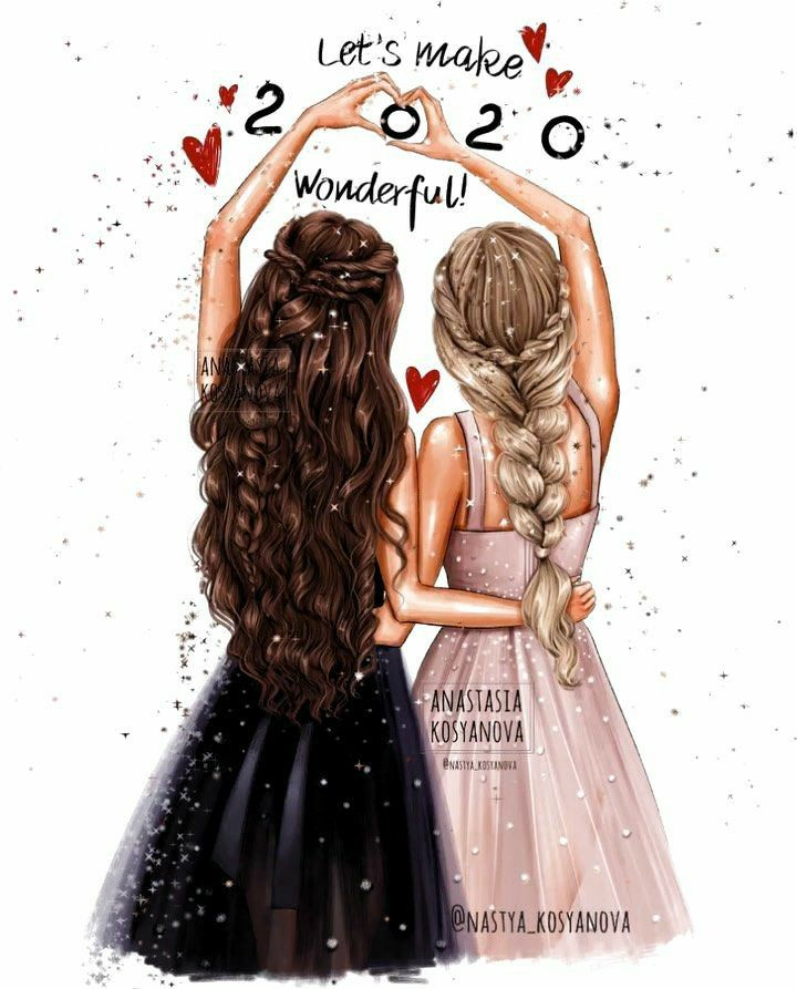 Pin By Roann Collantes On Inspirasi Gambar In 2020 Drawings Of Friends Best Friend Drawings Girly Drawings