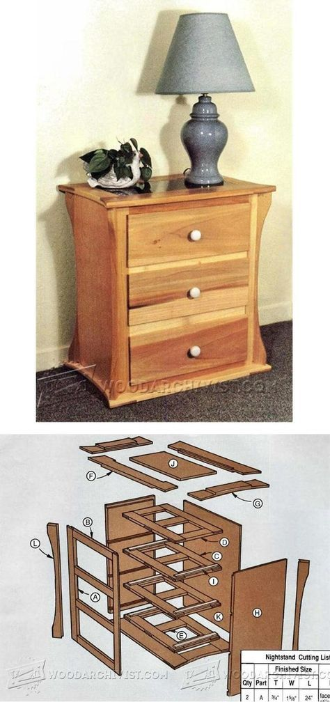 Night Stand Designs Free : Best nightstand plans ideas only on pinterest diy