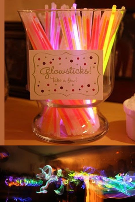 New Years Eve party idea - glowsticks!                                                                                                                                                                                 More