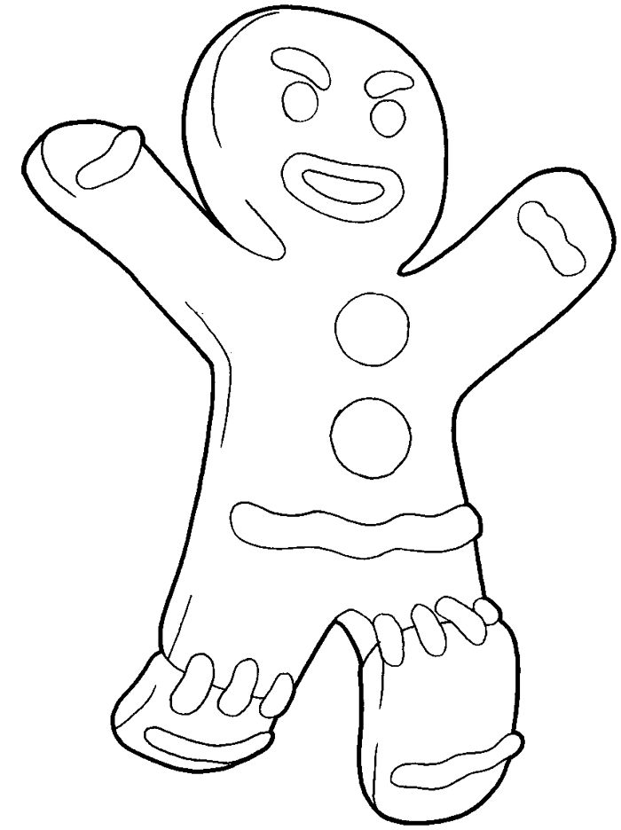 How to draw gingerbread man from shrek with easy step by for Coloring pages shrek