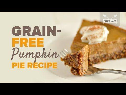 Grain-Free walnuts base Pumpkin Pie Recipe - YouTube