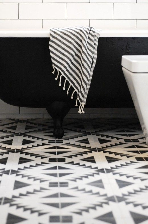 Beach Candy   Patterned FloorPatterned CementBlack White BathroomsBlack. 17 Best ideas about Black White Bathrooms on Pinterest   Black and